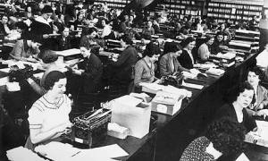 Secretaries at work circa 1935